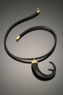 Glass Horn Necklace
