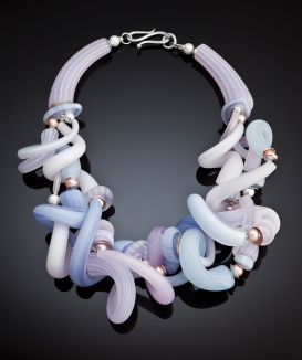 Frosted Multi Twist Necklace