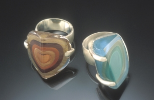 Striated Glass Rings